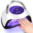 LifeGoods 120W LED Nageldroger UV Lamp - Voor Gelnagels en Nagel Gellak - 36 LEDs - Wit/Paars
