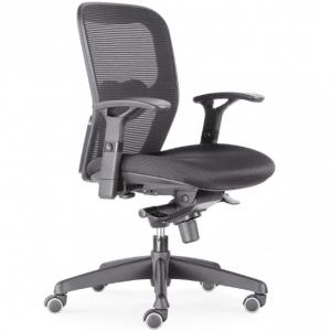 BenS 803-Bsc-3 - Ergonomische bureaustoel Robuste bureaustoel met heel veel instel mogelijkheden Zwart