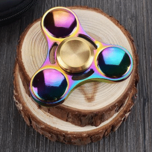 Fidget spinner rainbow galaxy