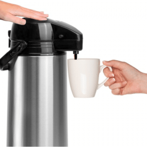 Basic Thermoskan met pomp - 1,8 Liter Isoleerkan - RVS - Vaatwasserbestendig
