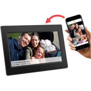 Denver PFF-710Black - 7 digitale fotolijst met Frameo software en Wi-Fi