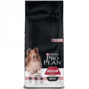 Pro Plan Medium Adult Sensitive Skin OptiDerma - Zalm - Hondenvoer - 14kg