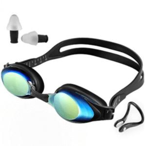 Yunmai HD Anti-Condens zwembril met lenskleur goud (zwembril + neusklem + oordopjes set)