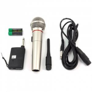 Brauch Draadloze Microfoon met FM Ontvanger 10 Meter Bereik Microfoonset Draadloos
