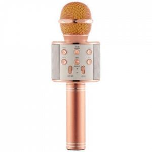 WT Trading Karaoke Microfoon - Draadloos - Bluetooth Verbinding - Rosékleurig - Voor de gezelligste feestjes