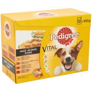 Pedigree Adult Selection Multipack - Kip, Lam, Gevogelte, Rundvlees in saus