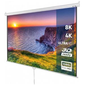 TradeNL Projectie scherm - beamer - 178x178 cm - 3D HD 4K compitabel