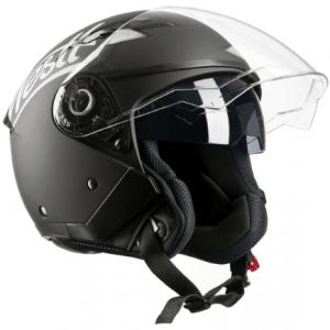 Westt Jet · Open Zwarte scooterhelm met zonnevizier