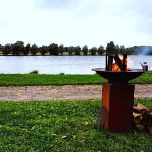 Barbecue Tiger Fire Rond 88cm Op Sokkel