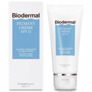 Biodermal pigmentvlekken crème - SPF 15 - 50 ml - Vermindert pigmentvlekken