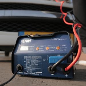 FERM Acculader Jumpstarter - 6V 12V - Met starthulp en impuls druppellading