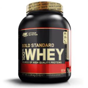 Optimum Nutrition Gold Standard 100% Whey Protein - Eiwitpoeder Eiwitshake - 2270 gram - Chocolade Hazelnoot